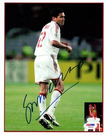 Sergio Claudio Dos Santos Autographed 8x10 Photo A.C. Milan PSA/DNA #U58395