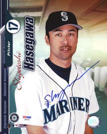Shigetoshi Hasegawa Autographed 8x10 Photo Seattle Mariners PSA/DNA #Q88663
