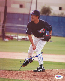 Shigetoshi Hasegawa Autographed 8x10 Photo Anaheim Angels PSA/DNA #Q88665