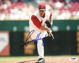 Aaron Harang Autographed 8x10 Photo Cincinnati Reds PSA/DNA #Q88696