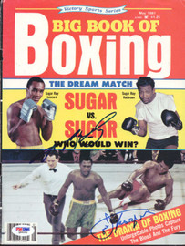 Joe Frazier & Sugar Ray Leonard Autographed Boxing Magazine Cover PSA/DNA #Q89202