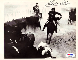 Carlos Monzon Autographed 6.5x8.5 Photo Signed Twice PSA/DNA #Q90562