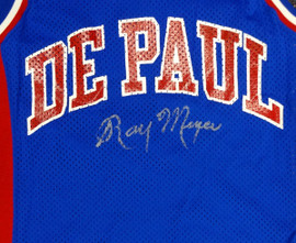 DePaul Blue Demons Ray Meyer Autographed Blue Jersey PSA/DNA #Y30327