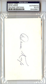 Dave Keefe Autographed 3x5 Index Card PSA/DNA #83426651