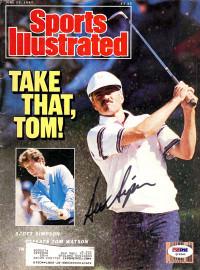 Scott Simpson Autographed Sports Illustrated Magazine PSA/DNA #Q19340