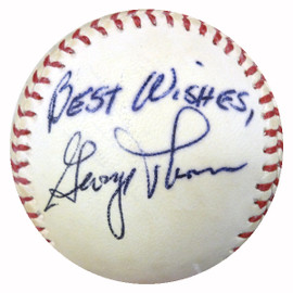 "George Thomas Autographed Baseball Boston Red Sox ""Best Wishes"" PSA/DNA #Y29690"