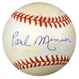 Paul Minner Autographed Official NL Baseball Brooklyn Dodgers PSA/DNA #Z33302