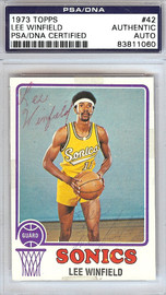 Lee Winfield Autographed 1973 Topps Card #42 Seattle Sonics PSA/DNA #83811060