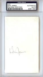 Don James Autographed 3x5 Cut Signature Washington Huskies PSA/DNA #83811693