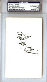 Ted McClain Autographed 3x5 Index Card PSA/DNA #83814072