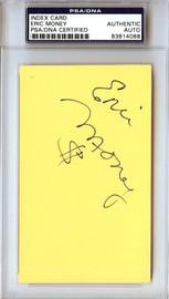 Eric Money Autographed 3x5 Index Card Detroit Pistons, Philadelphia 76ers PSA/DNA #83814088