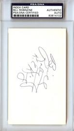 Bill Robinzine Autographed 3x5 Index Card Kansas City Kings PSA/DNA #83814102