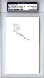 Nick Weatherspoon Autographed 3x5 Index Card Bullets PSA/DNA #83814124