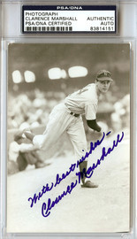 """Clarence Marshall Autographed 3.5x5.5 Photo New York Yankees """"Best Wishes"""" PSA/DNA #83814151"""