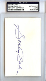 Sonny Parker Autographed 3x5 Index Card Golden State Warriors PSA/DNA #83829086