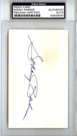 Sonny Parker Autographed 3x5 Index Card Golden State Warriors PSA/DNA #83829087