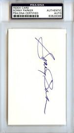 Sonny Parker Autographed 3x5 Index Card Golden State Warriors PSA/DNA #83829088