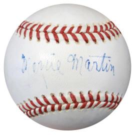 Morrie Martin Autographed NL Baseball Brooklyn Dodgers PSA/DNA #Z80052