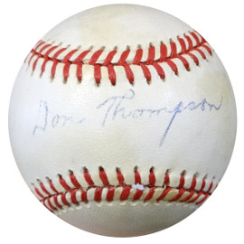 Don Thompson Autographed Official NL Baseball Brooklyn Dodgers PSA/DNA #Z80269