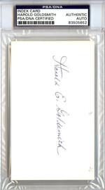 Harold Goldsmith Autographed 3x5 Index Card Boston Braves PSA/DNA #83505652