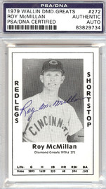 Roy McMillan Autographed 1979 Diamond Greats Card #272 Redlegs PSA/DNA #83829734