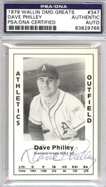 Dave Philley Autographed 1979 Diamond Greats Card #347 A's PSA/DNA #83829766