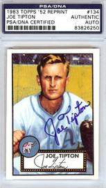 Joe Tipton Autographed 1952 Topps Reprint Card #134 Philadelphia A's PSA/DNA #83826250