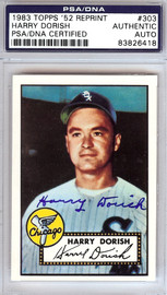 Harry Dorish Autographed 1952 Topps Reprint Card #303 Chicago White Sox PSA/DNA #83826418