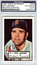 Dick Gernert Autographed 1952 Topps Reprint Card #343 Boston Red Sox PSA/DNA #83826554