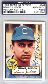 Howie Judson Autographed 1952 Topps Reprint Card #169 Chicago White Sox PSA/DNA #83826605