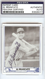 Al Brancato Autographed 1945 Play Ball Reprint Card #22 Philadelphia A's PSA/DNA #83828077