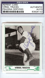 Virgil Trucks Autographed 1946 Play Ball Reprint Card #6 Detroit Tigers PSA/DNA #83828132