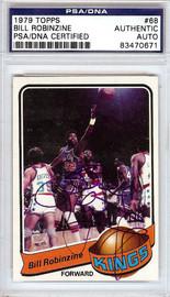 Bill Robinzine Autographed 1979 Topps Card #68 Kansas City Kings PSA/DNA #83470671