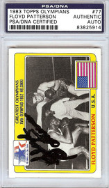 Floyd Patterson Autographed 1983 Topps Olympians Card #77 PSA/DNA #83825914