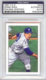 Frank Shea Autographed 1952 Bowman Reprints Card #230 Washington Senators PSA/DNA #83826084