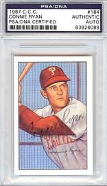 Connie Ryan Autographed 1952 Bowman Reprints Card #164 Philadelphia Phillies PSA/DNA #83826088