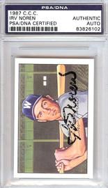 Irv Noren Autographed 1952 Bowman Reprints Card #63 Washington Senators PSA/DNA #83826102