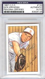 Dick Kryhoski Autographed 1952 Bowman Reprints Card #133 St. Louis Browns PSA/DNA #83826126
