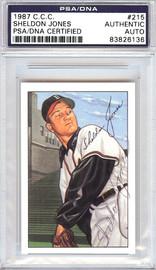 Sheldon Jones Autographed 1952 Bowman Reprints Card #215 Boston Braves PSA/DNA #83826136
