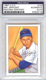 Hal Jeffcoat Autographed 1952 Bowman Reprints Card #104 Chicago White Sox PSA/DNA #83826138