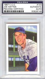 Joe Hatten Autographed 1952 Bowman Reprints Card #144 Chicago Cubs PSA/DNA #83826148