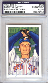 Randy Gumpert Autographed 1952 Bowman Reprints Card #106 Boston Red Sox PSA/DNA #83826151