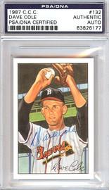 Dave Cole Autographed 1952 Bowman Reprints Card #132 Boston Braves PSA/DNA #83826177