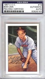 Bob Cain Autographed 1952 Bowman Reprints Card #19 St. Louis Browns PSA/DNA #83826183