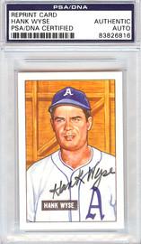 Hank Wyse Autographed 1951 Bowman Reprints Card #192 Washington Senators PSA/DNA #83826816