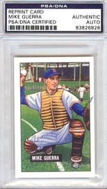 Mike Guerra Autographed 1951 Bowman Reprints Card #202 Washington Senators PSA/DNA #83826828