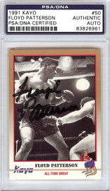 Floyd Patterson Autographed 1991 Kayo Card #50 PSA/DNA #83826961