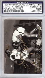 Floyd Patterson Autographed 1996 Upper Deck US Olympic Card #16 PSA/DNA #83827008