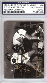 Floyd Patterson Autographed 1996 Upper Deck US Olympic Card #16 PSA/DNA #83827010