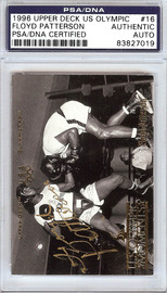 Floyd Patterson Autographed 1996 Upper Deck US Olympic Card #16 PSA/DNA #83827019